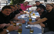 Lads on tour. Post tournament drinks at the eurofootballives.com 5-a-side Krakow Trophy 2007