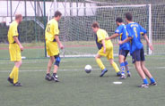 Five-a-side Football Tournament: The 2007 Prague Masters - Byraspor and Slepi Kone in action